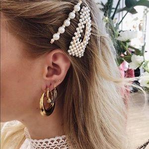 Gold Pearl Hair accessories